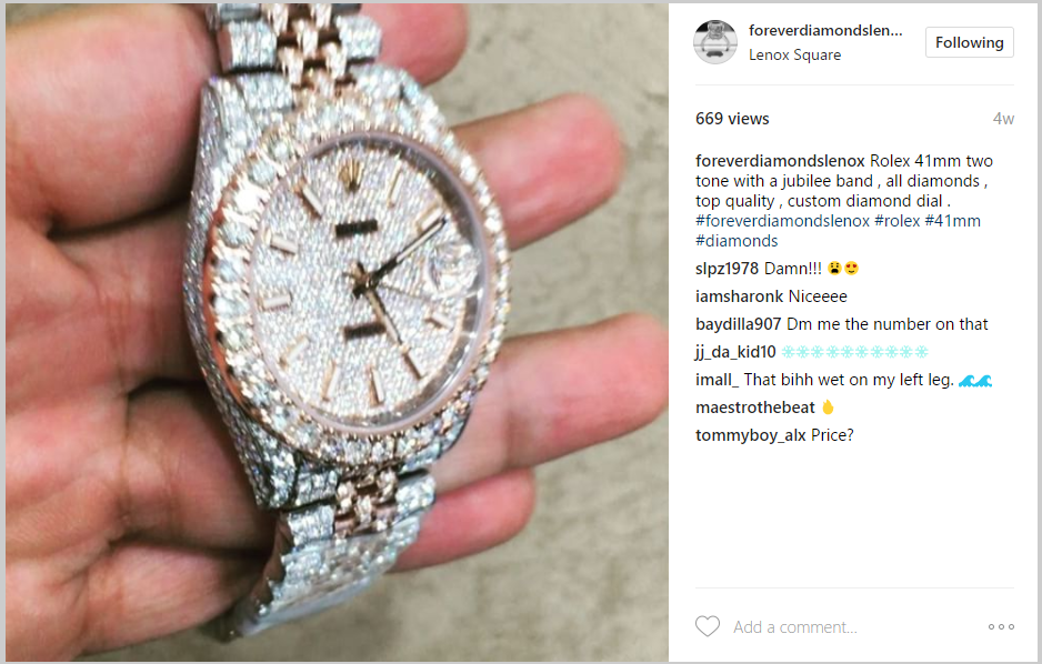 ice out watch for Instagram