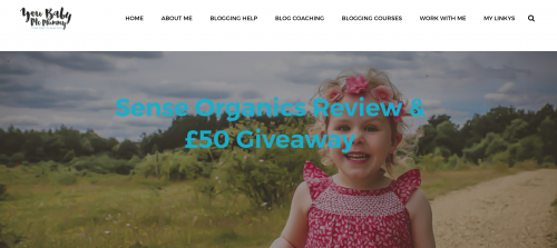 Little girl promoting a giveaway